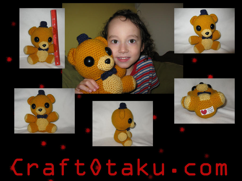 Golden Freddy amigurumi by s0nicfreak
