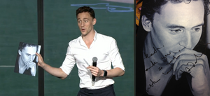 Tom Hiddleston signed my portrait at SDCC!