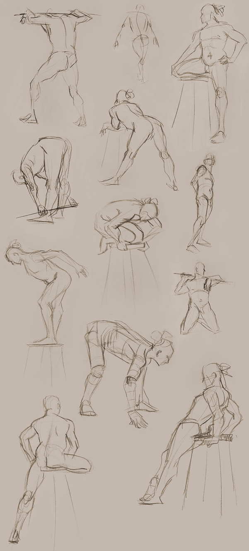 Figure Studies 8/29 by Gwendolaine
