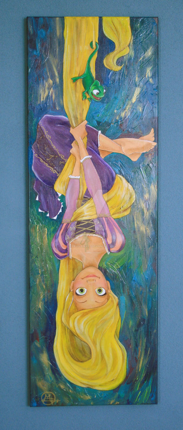Rapunzel Upside Down by MarjoleinART