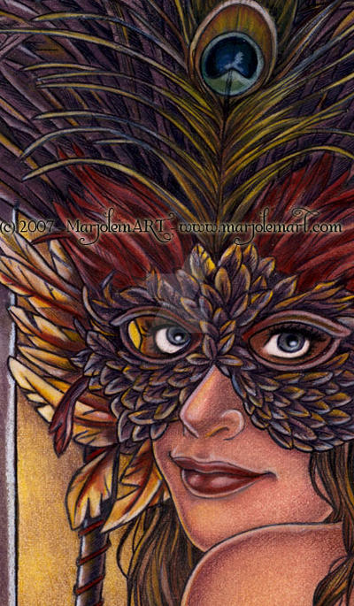 Feathers Detail by MarjoleinART