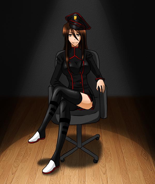 Sitting like a boss by GazeRei