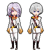[Pixel] A-Drei and L-Elf by GazeRei