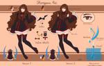 [DGM] Shiroyama Rei reference sheet - alt uniform