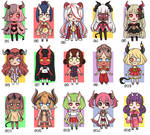 [CLOSED] Mini chibi ADOPTS #4 - 500 points OR 6$
