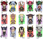 [CLOSED] Mini chibi ADOPTS #5 - 500 points OR 6$