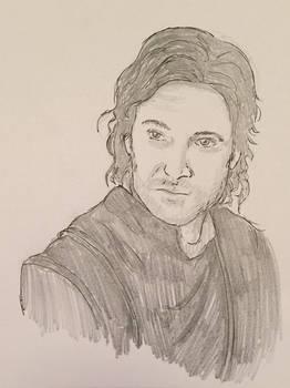 Guy of Gisborne - Pencil Sketch