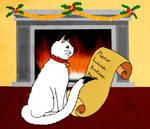 The cat of Santa Claus