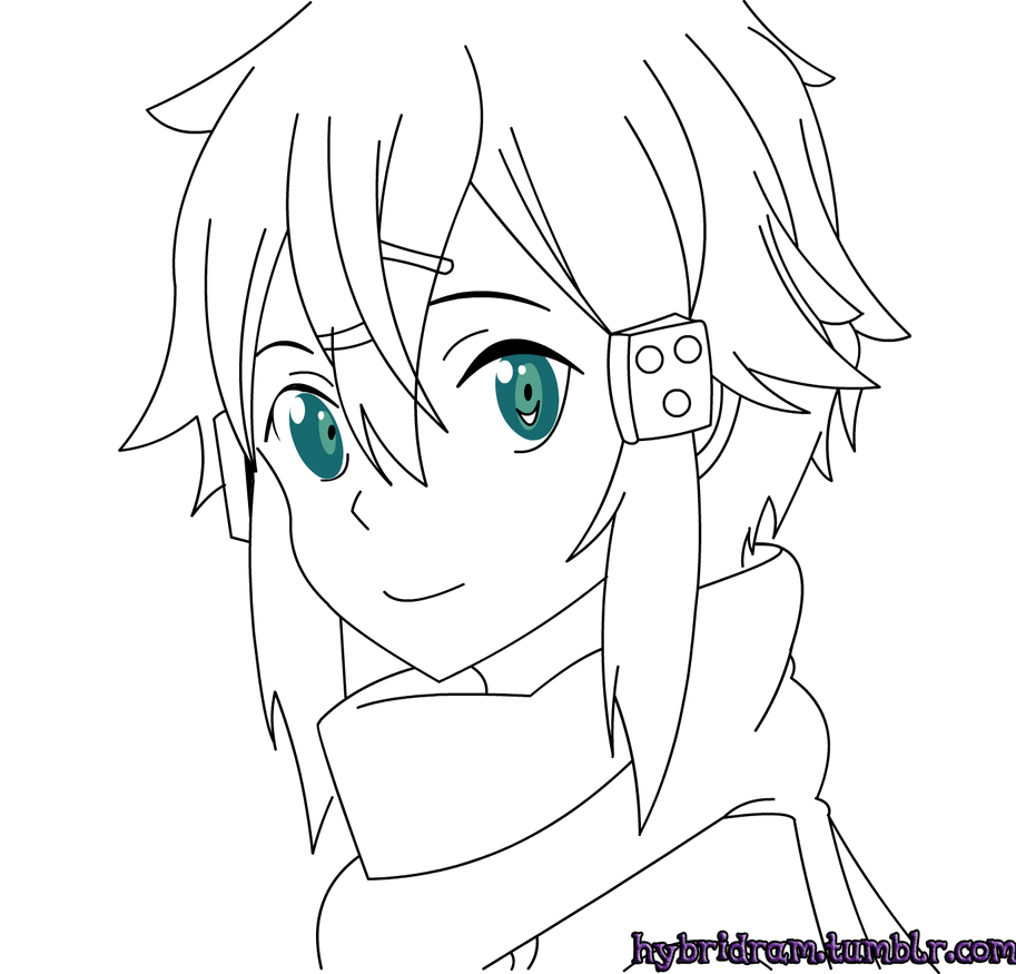 Sinon Line Art by AriesBolt