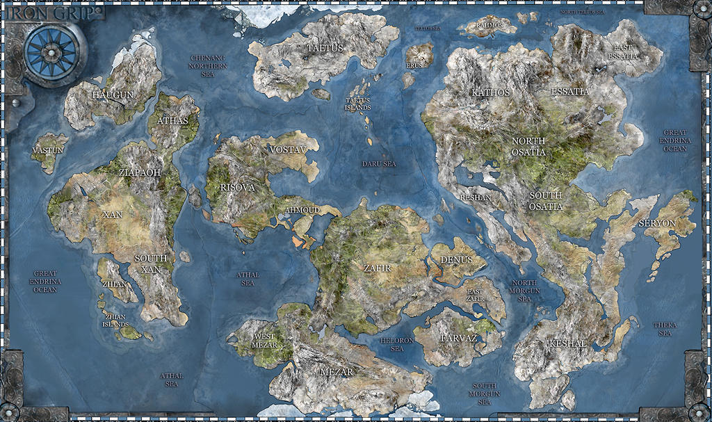 Iron Grip World Map By Iron Grip ...