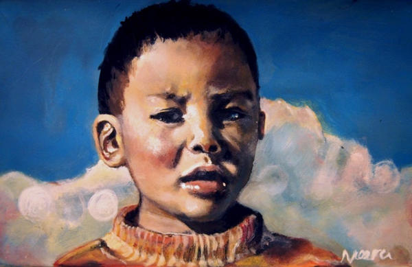 Tibetan boy by Kaislea