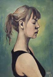 Self portrait with a little black dress by Kaislea