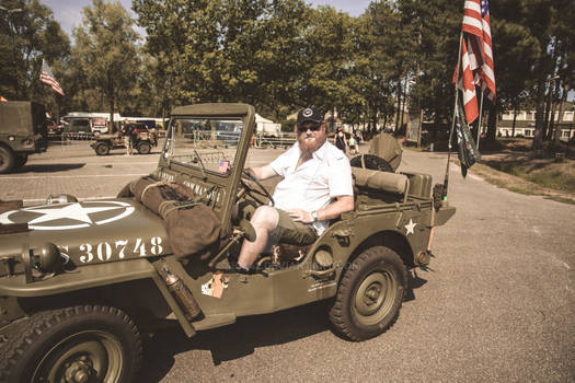 Me in a 1943 Jeep (EU Campaign)