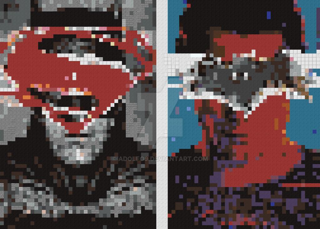 Batman Vs Superman Posters Pixel Art By Adolfo9 On Deviantart