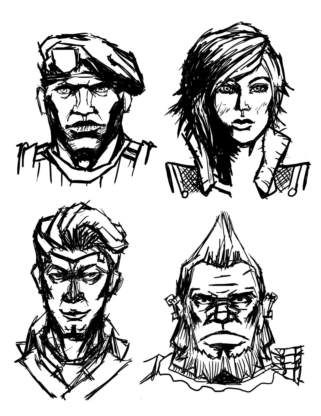 how to draw borderlands style