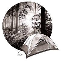 Inktober - Day 13 - Camp Wilderness