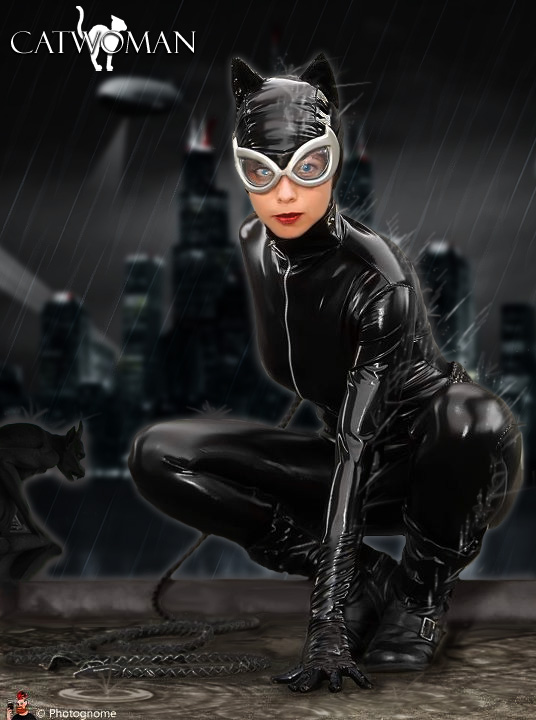 Catwoman in the Rain by Furyian