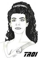 Star Trek Portrait Deanna Troi by Furyian