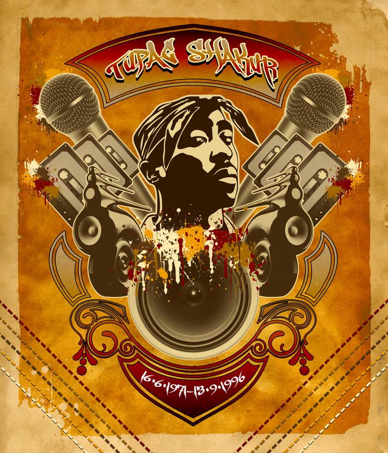 Tupac Shakur by reshad80