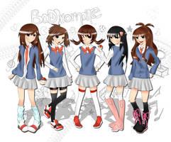 Pokemon Girls by niiteru