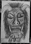 Mummer mask - drawing, 1997