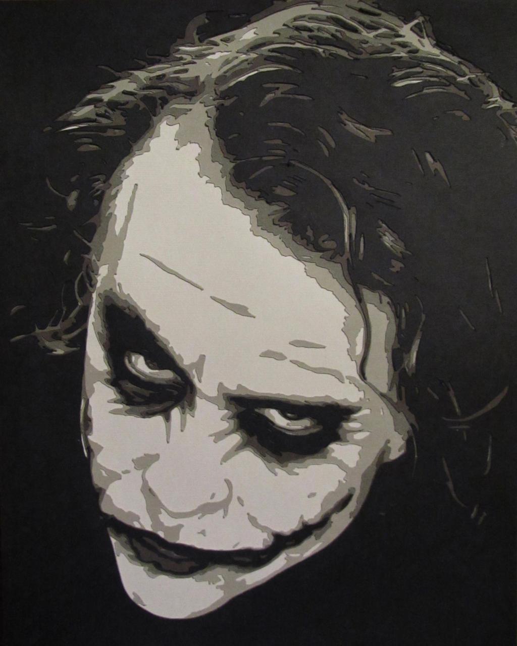 Joker - Heath Ledger by Papergizmo