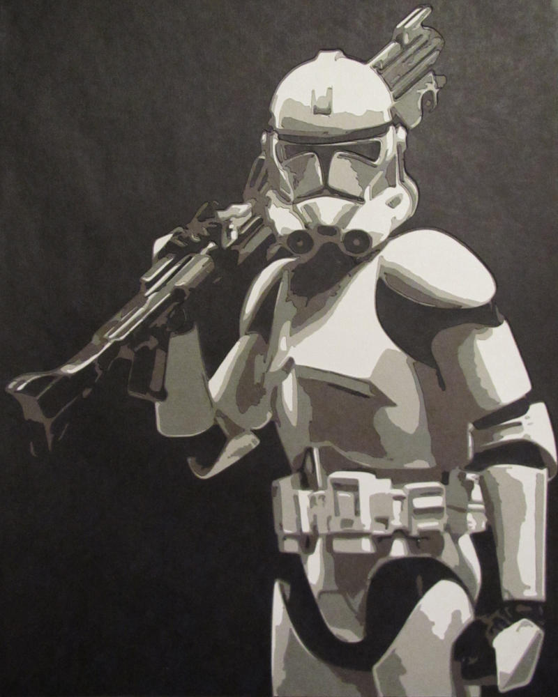 Clone Trooper 1 by Papergizmo