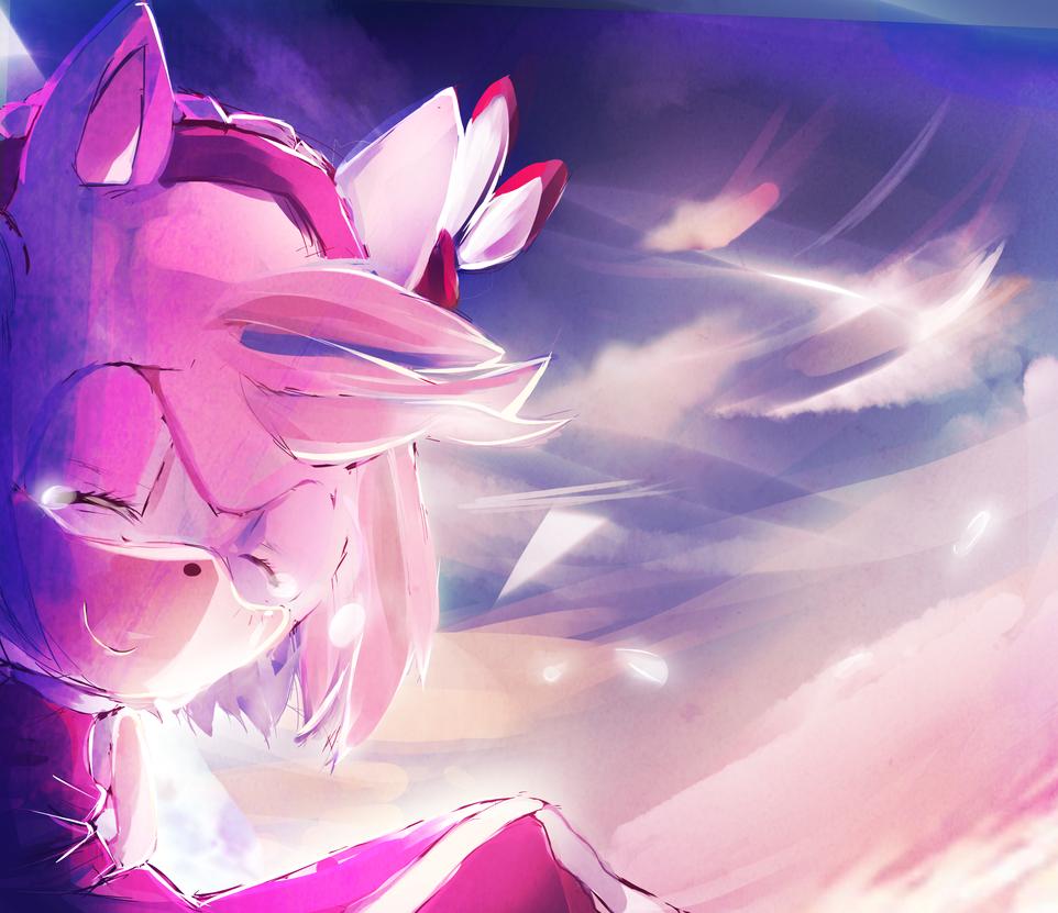 Sakura sunset goodbye by SugarCokkie