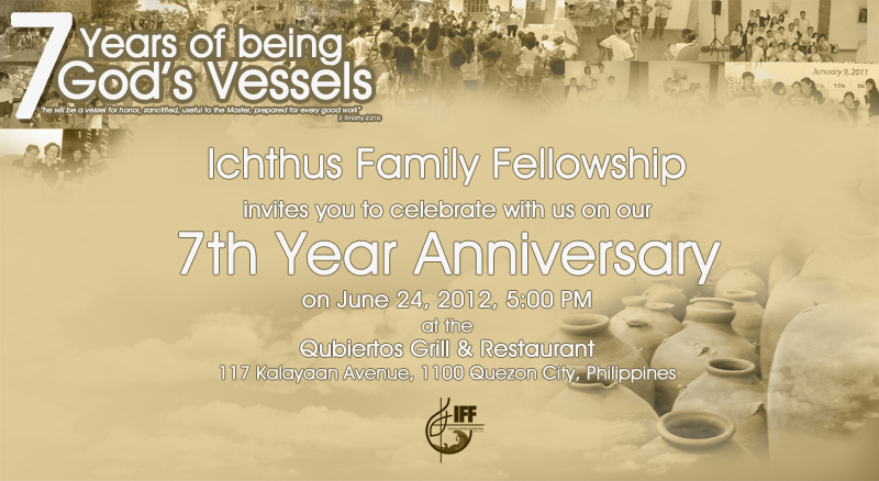 Church 7th Year Anniversary Invitations