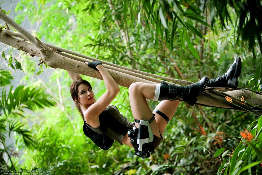 Lara Croft in the jungle
