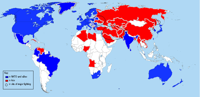 Maps That Illuminate The World Americas Allies And Enemies In - Worls map of us and it allies