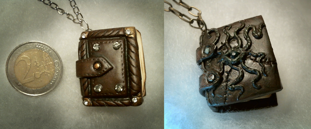 Spellbook/Necronomicon pendant by Necr0w