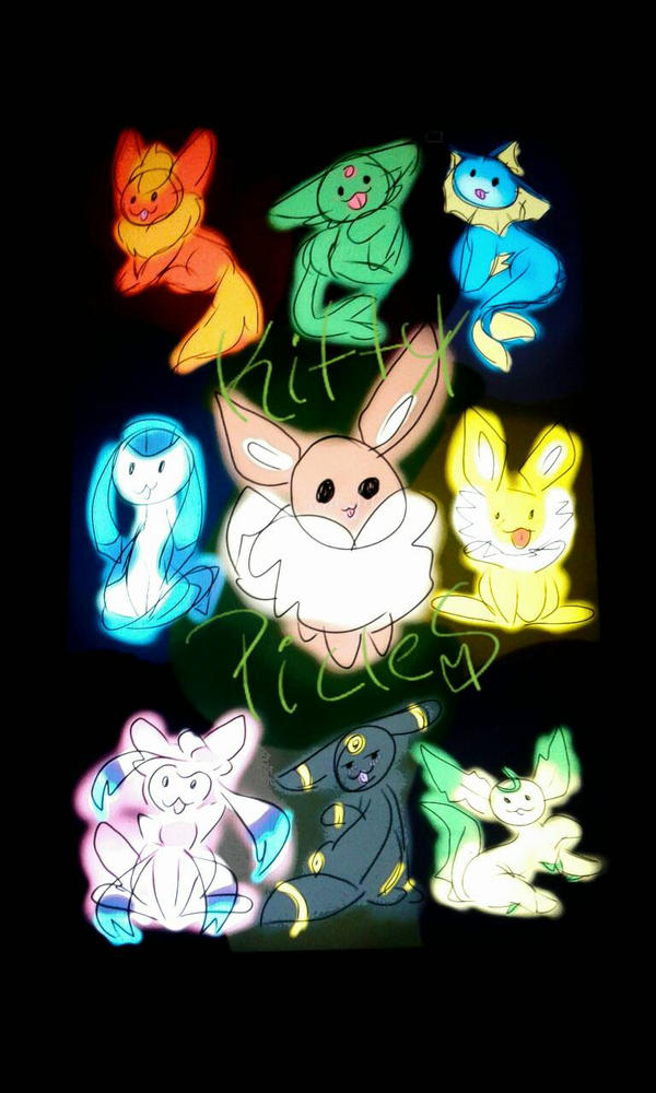 durpy eevee evolution  by kittypicles221