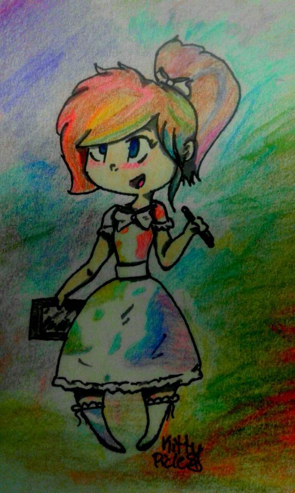 An cartoon  OC for Minikter by kittypicles221