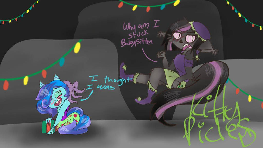 Christmas special comic panel  by kittypicles221