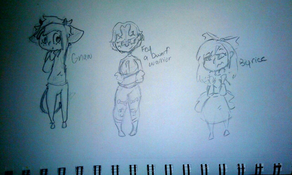 some character sketches by kittypicles221