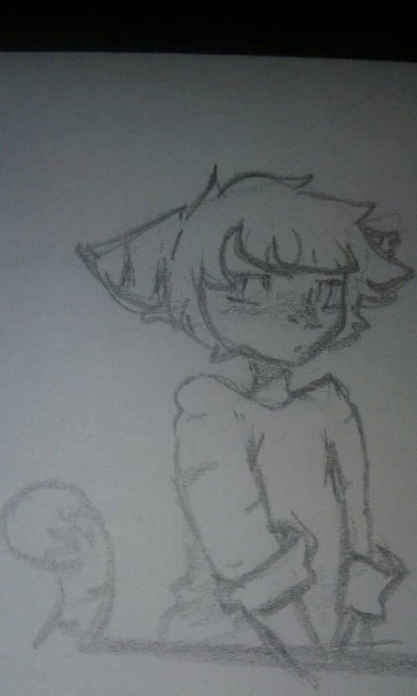 another one of my OCs sketches  by kittypicles221