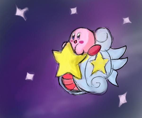 Kirby Starship by manfartwish