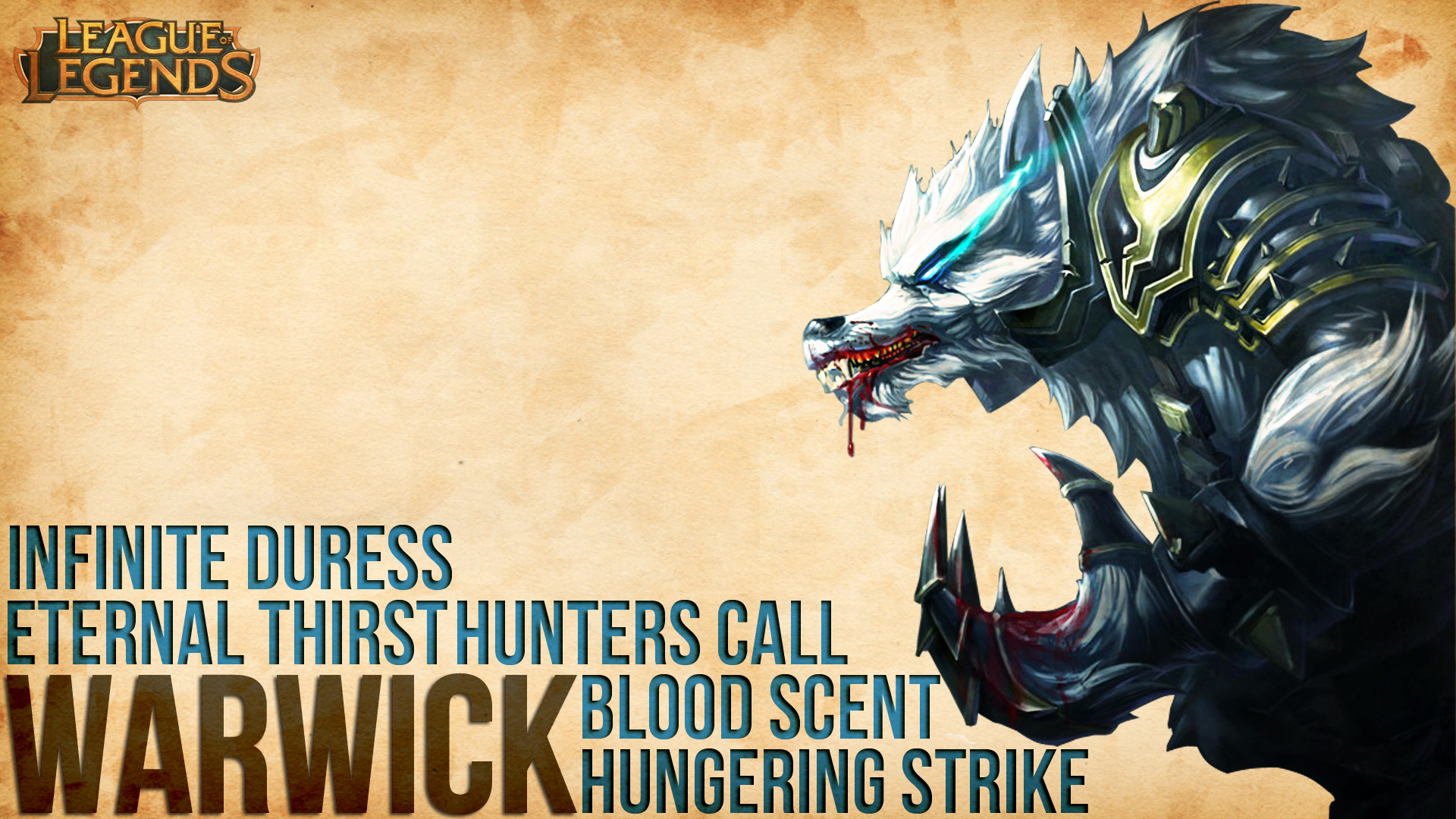 Warwick League Of Legends Wallpaper By Adrigolden On Deviantart