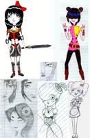 random doodles by ShinoHaseo