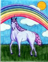 purple unicorn yay, X3 by ShinoHaseo