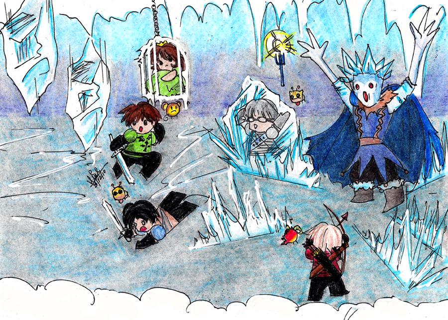 Party crashers ice castle by mimiluvbug on deviantart - Castle crashers anime ...