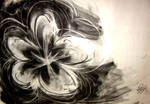flower -charcoal-