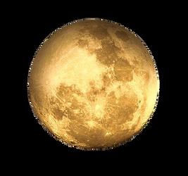 transparent background ~ Golden Moon [PNG] Free St