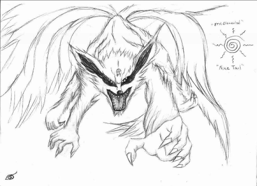 Naruto Nine Tailed Demon Fox by lordseth on DeviantArt