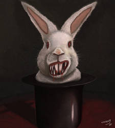 Hate the Magicians Crazy Bunny by facusoad