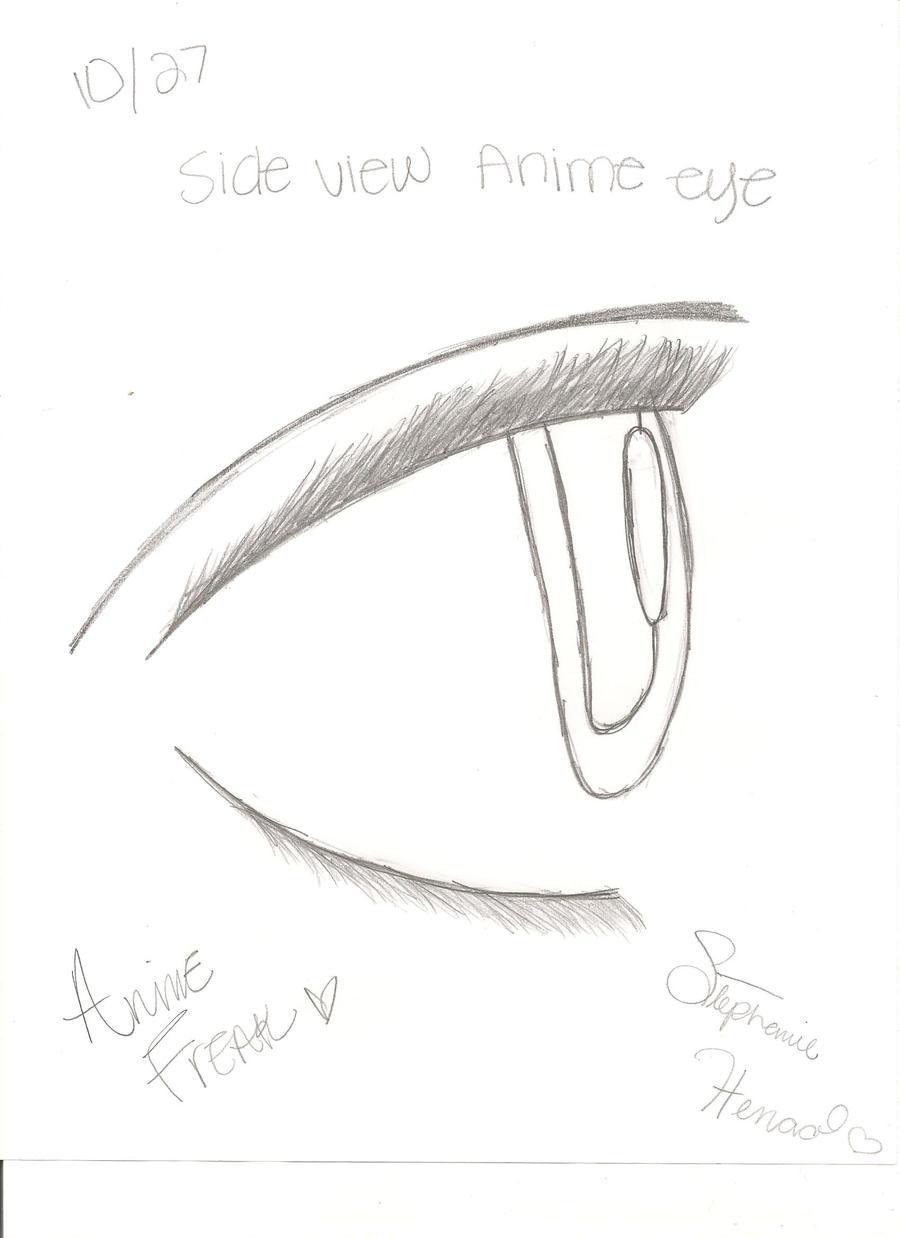 Eye Side View Drawing