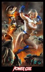 POWER GIRL on Apokolips by DouglasShuler