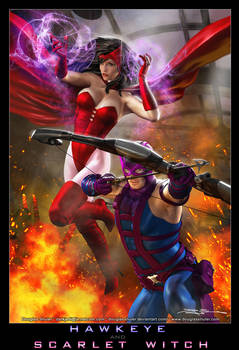 HAWKEYE and SCARLET WITCH