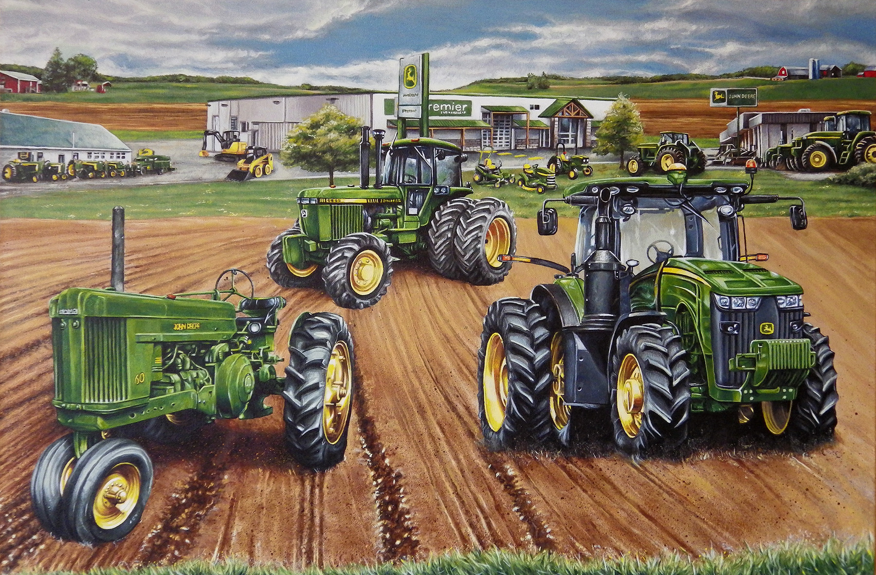 Girly John Deere Paintings : John deere premier commissioned painting by benke on